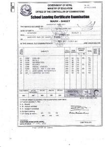Ghan Certificate