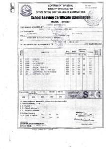 Kabita Certificate
