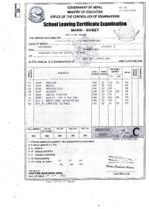 Samjhana Certificate