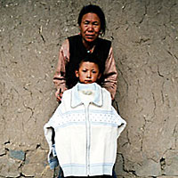 Kinderen in Tibet-China